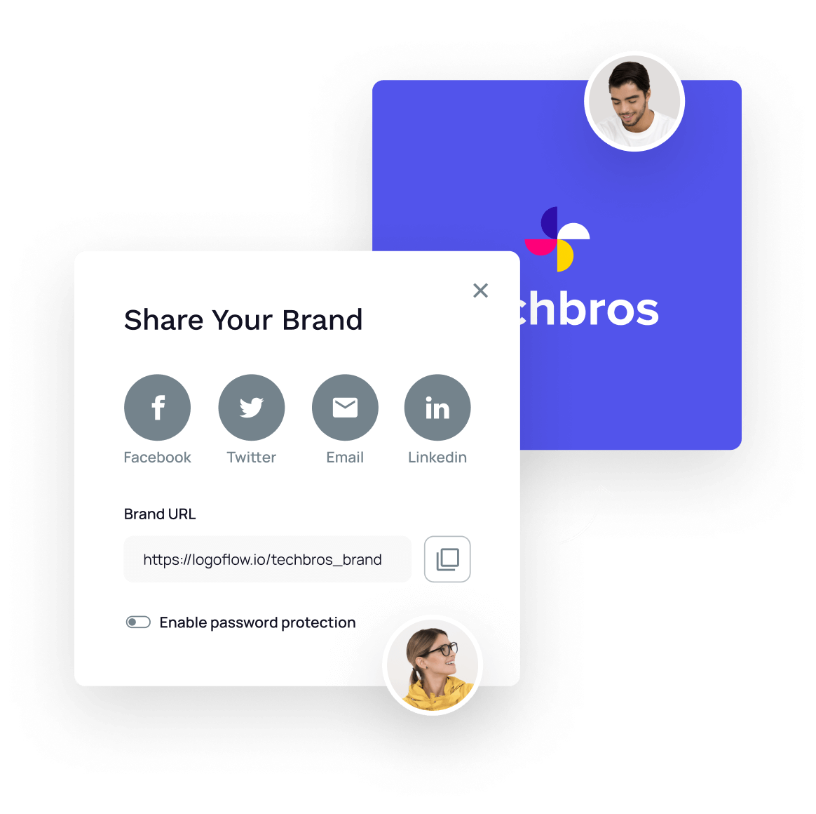 Illustration - Share Your Brand Page